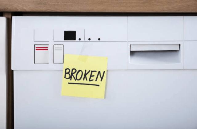 dishwasher broken sign